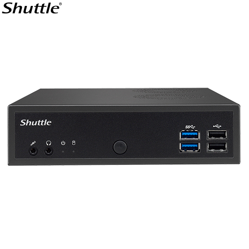 Shuttle DH02U3 XPC Slim 1L Barebone - H02U3, i3-7100U  , 2x DDR4, 1x 2.5', 4K Display,  4x HDMI, 1x RS232, 2xUSB3.0