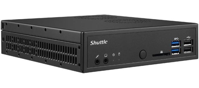 Shuttle DH310V2 XPC Slim 1.3L Barebone - H310, LGA1151v2, 2x DDR4, 1x 2.5', 1x M.2, 4K Dual Display, DP+HDMI, 2x RS232, 4x USB3.0+3x USB2.