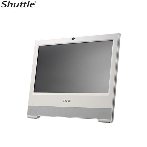 Shuttle X50V6 XPC AIO Fanless Barebone - 15.6' Touch, IP54, Celeron 3865U, DDR4 SODIMM, 2.5' HDD, VGA/HDMI, 1 Giga LAN, WiFi - White