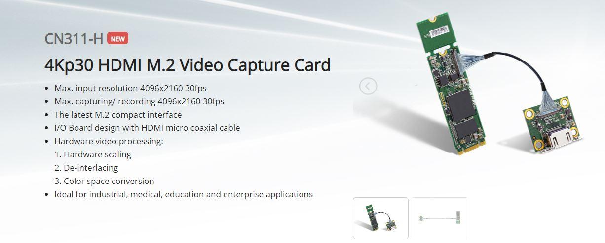 AVerMedia CN311-H 4Kp30 HDMI M.2 Video Capture Card