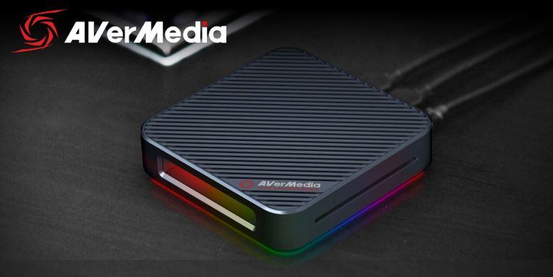 AVerMedia GC555 LIVE Gamer BOLT video Capture Box 4Kp60 HDR + FHD 240FPS RGB Lighting Effect, Thunderbolt 3 interface, HDMI 2.0, 3.5 Audio. 7.1 Passth