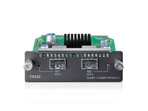 TP-Link TX432 10-Gigabit 2-Port SFP + Module 2x10Gb SFP+ slots Applicable to multiple TP-LINK switch models/SFP+ transceivers/SFP+ cables (LS)