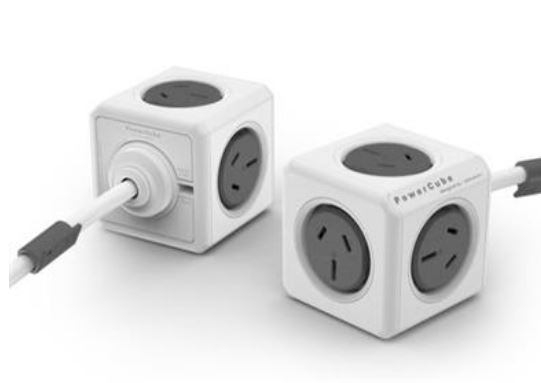 ALLOCACOC POWERCUBE Extended 5 Outlets, 3M – Grey (LS)