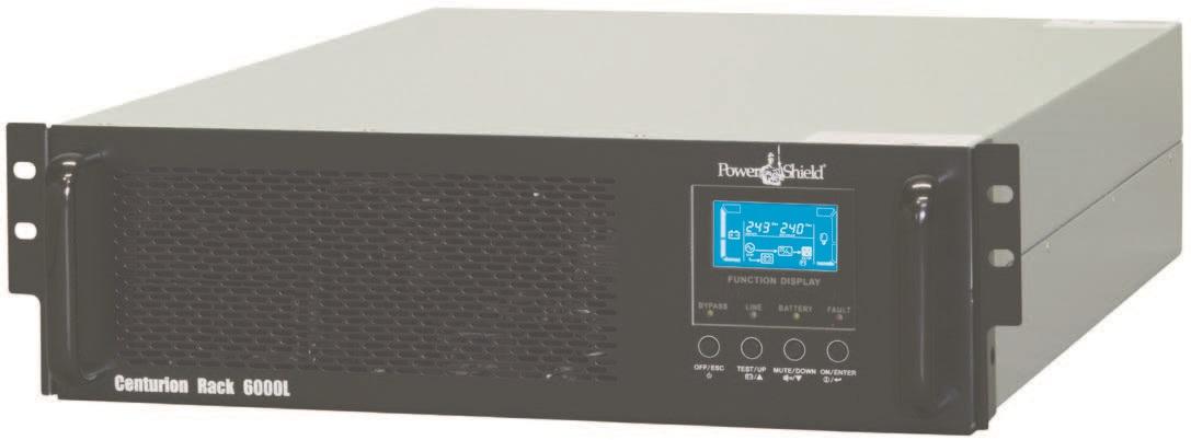 PowerShield Centurion Rack UPS 6000VA / 4800W True On-Line, Double Conversion UPS and PSCERBB20 External Battery Cabinet 15amp
