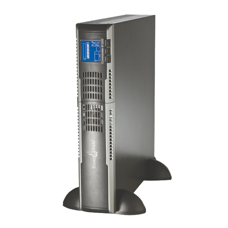 PowerShield Commander RT 2000VA / 1600W Line Interactive, Pure Sine Wave Rack / Tower UPS with AVR. Extendable  hot swap batteries, IEC  AUS Plugs