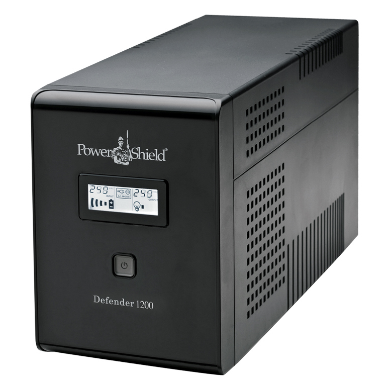 PowerShield Defender 1200VA / 720W Line Interactive UPS with AVR, Australian Outlets and user replaceable batteries  -  UPD-UPA102V2100BB