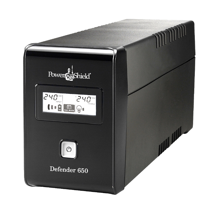 PowerShield Defender 650VA / 390W Line Interactive UPS with AVR, Australian Outlets and user replaceable batteries  -  UPD-UPA601V2100BB
