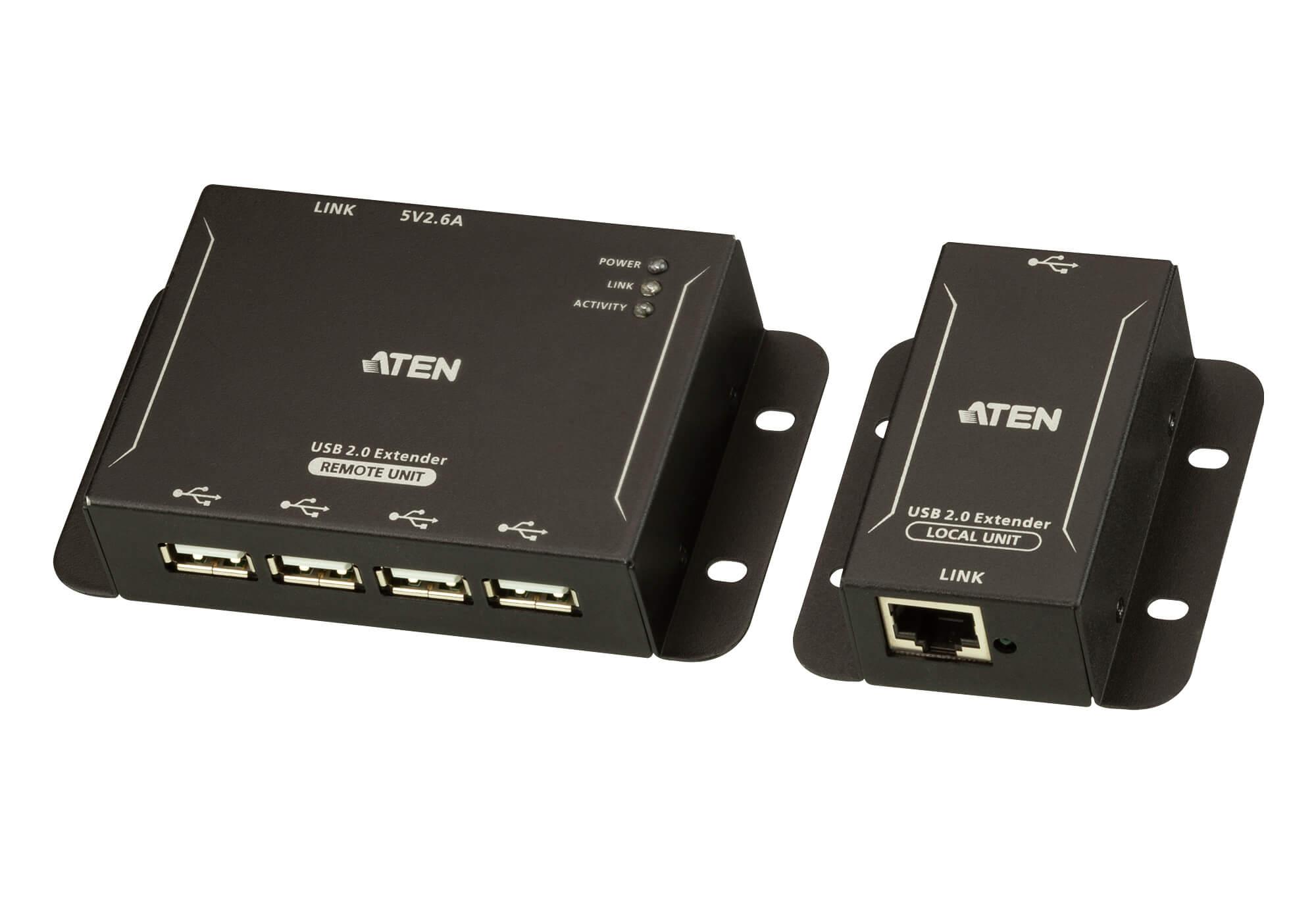 Aten 4-Port USB 2.0 CAT 5 Extender (Up to 50m)