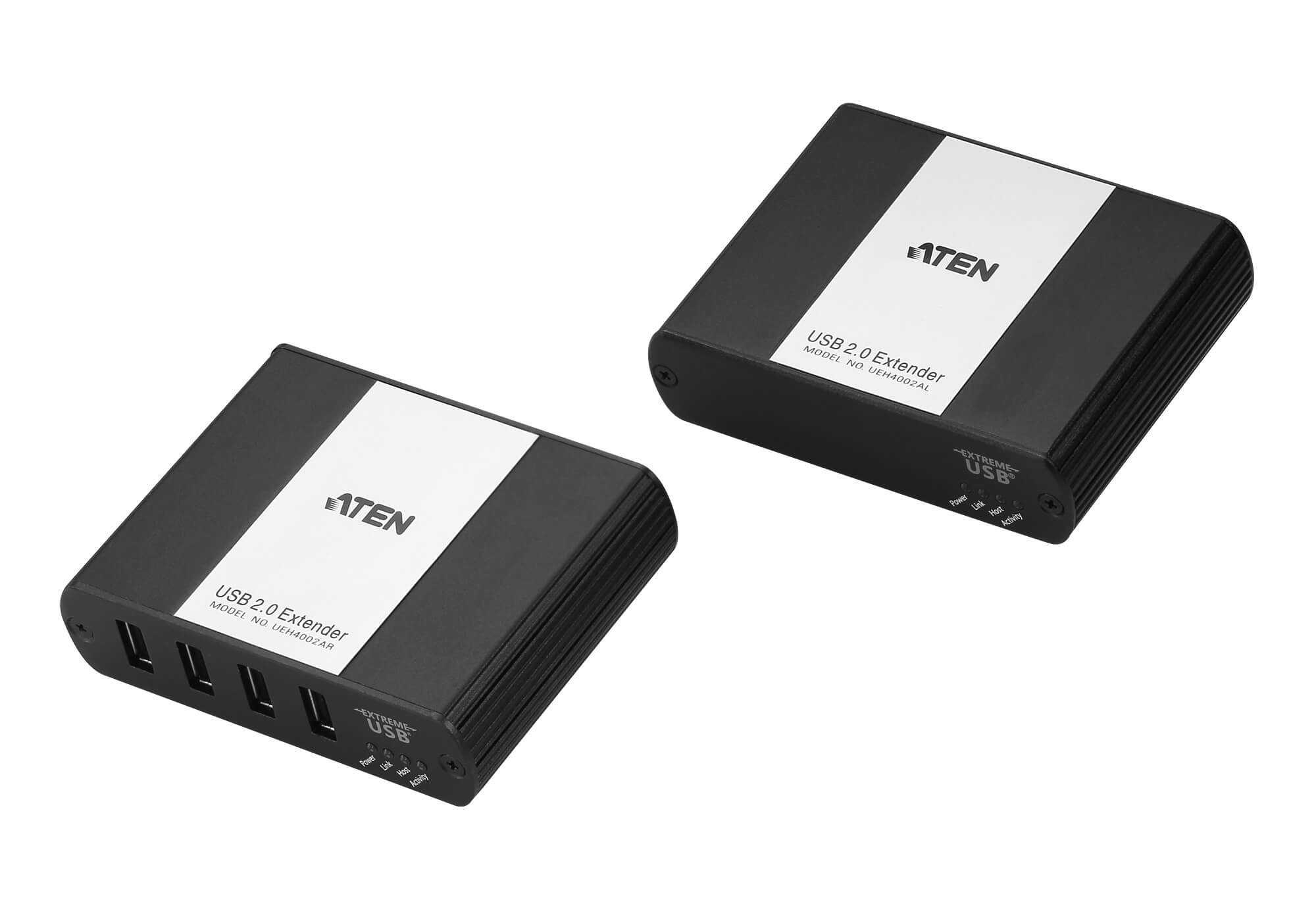 Aten USB 2.0 Cat 5 Extender with 4-Port Hub, ExtremeUSB feature supports transparent USB extension, extends up to 100m