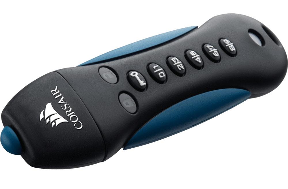 Corsair Padlock 3 64GB Secure USB 3.0 Flash Drive with Keypad - Secure 256-bit Hardware AES Encryption