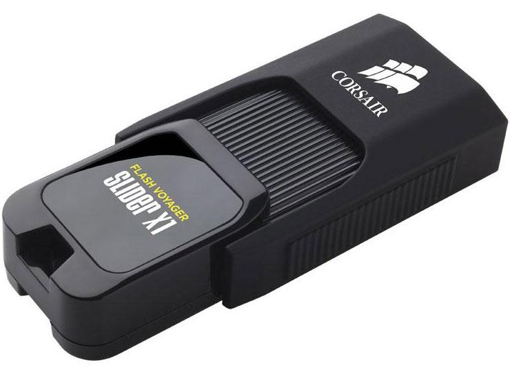Corsair Flash Voyager Slider X1 32GB USB 3.0 Flash Drive - Capless Design Read 130MBs Plug and Play