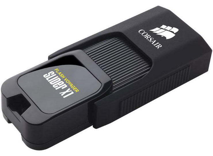 Corsair Flash Voyager Slider X1 64GB USB 3.0 Flash Drive - Capless Design Read 130MBs Plug and Play