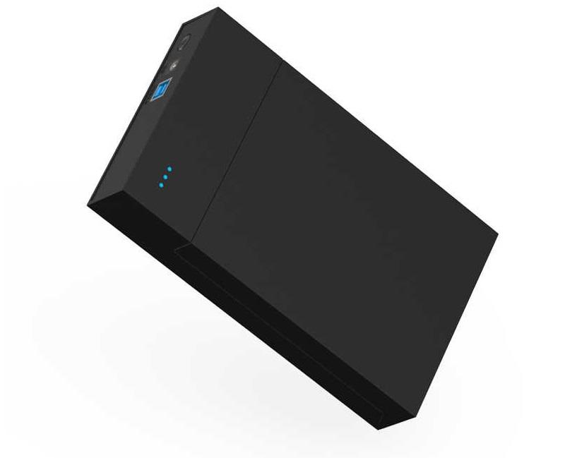 AKY 3.5' MR35T USB 3.0 SATA Screwless external HDD Enclosure Blackclosure Black