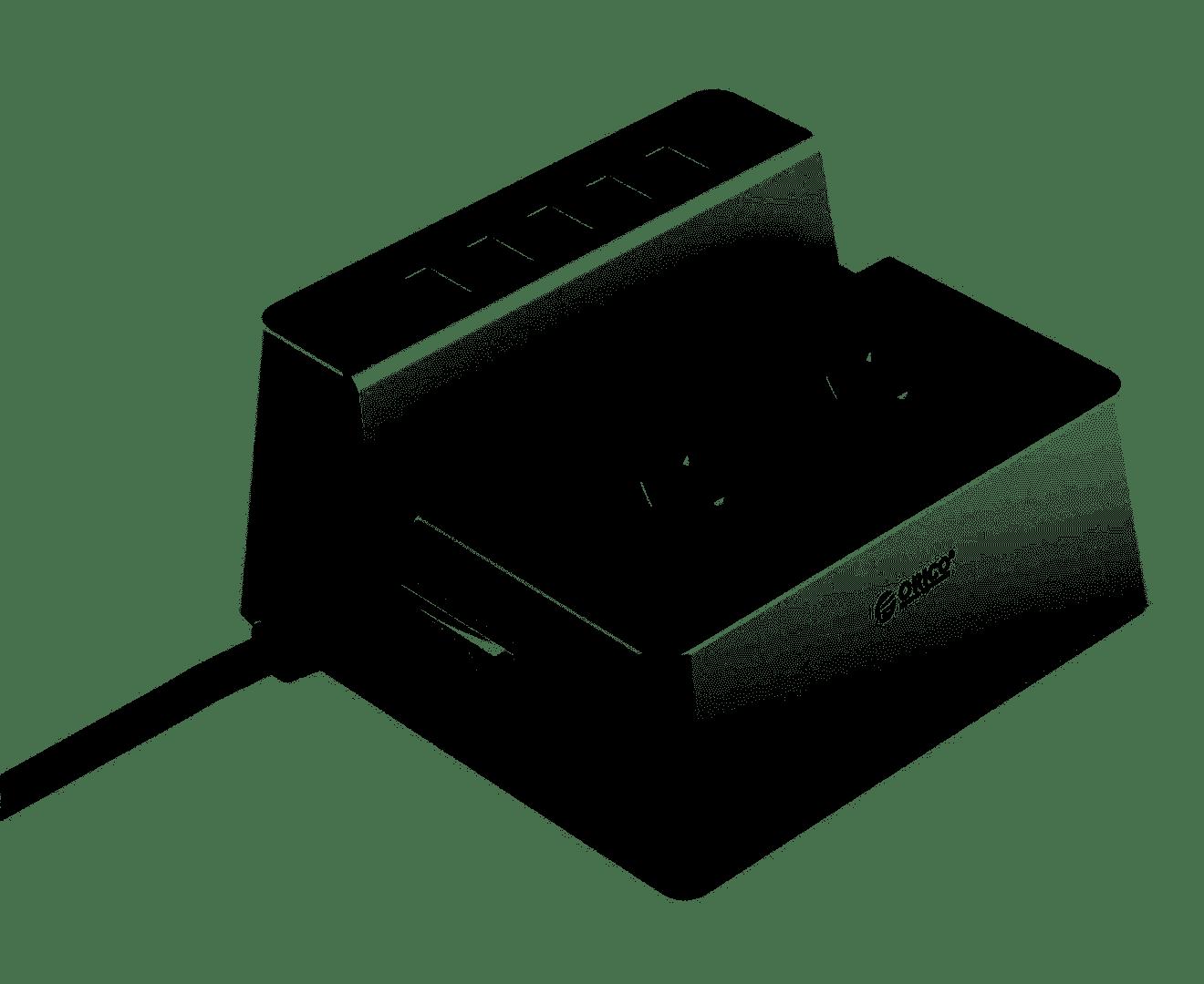 ORICO Surge Protection Desktop Smart Charging Station, 5 x 2.4a USB Ports, 2 x 240v Ports, ODC-2A5U-AU  UPAE-SS2A25A