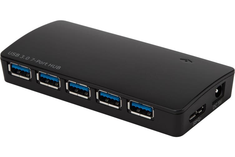 Targus 7 Port USB 3.0 Power Hub With Fast Charging and 5Gbps Transfer Speed/ Accept USB 2.0/1. x Devices