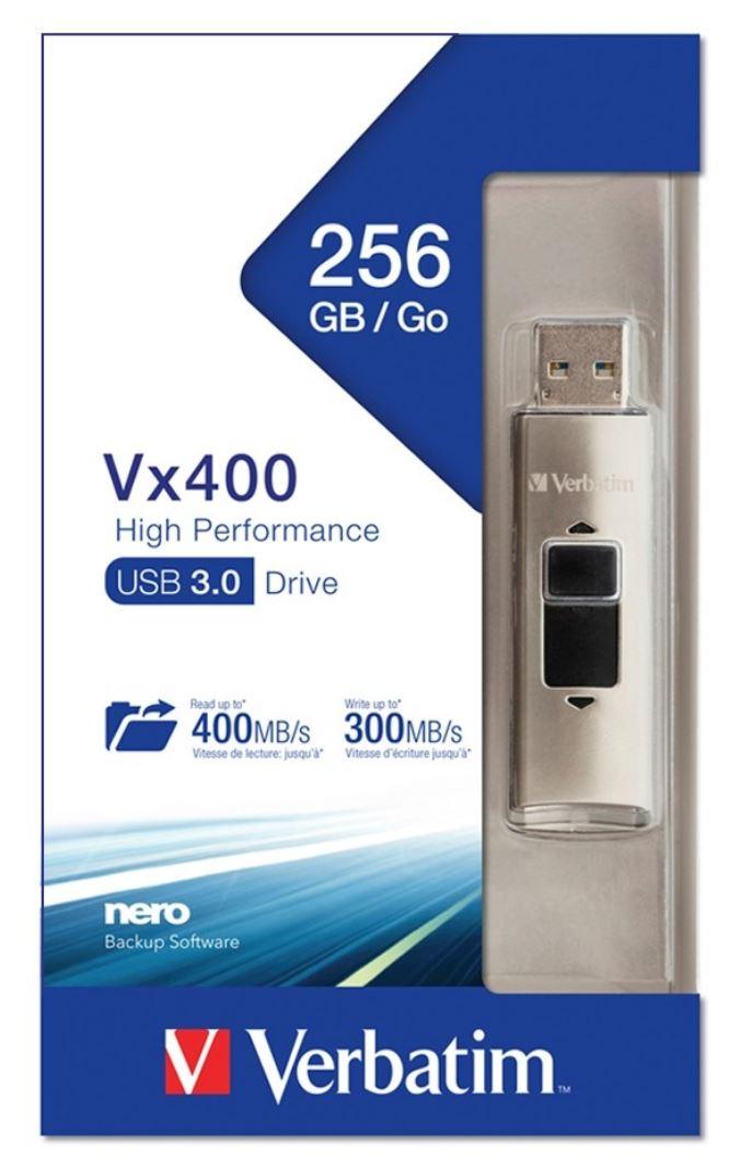 Verbatim Store'n'Go Vx400 Solid State USB Drive-256GB(LS)