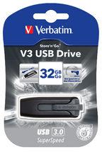 Verbatim 32GB V3 USB3.0 Grey Store'n'Go V3; Retractable