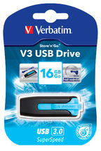 Verbatim 16GB V3 USB3.0 Blue Store'n'Go V3; Rectractable