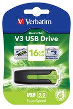 Verbatim 16GB V3 USB3.0 Green Store'n'Go V3; Rectractable
