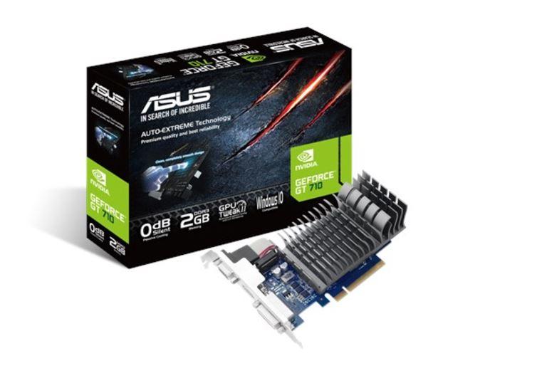 Asus nVidia 710-2-SL-BRK PCIe Card DDR3  1xD-sub 1xHDMI 1xDVI