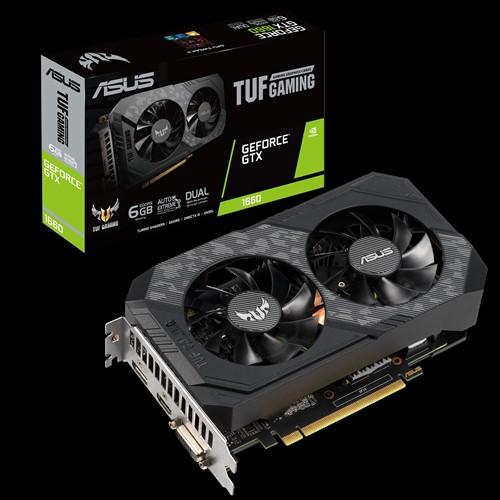 ASUS nVidia TUF-GTX1660-6G-GAMING GeForce GTX1660 6GB GDDR5, 1x DP, 1x HDMI, 1x DVI-D, 3 Fans, 1815 Boost