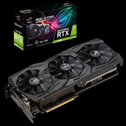 ASUS nVidia ROG-STRIX-RTX2060-A6G-GAMING GeForce RTX 2060 Advanced edition 6GB GDDR6 , 3 Fans, 2xDP/2xHDMI, 1740 Boost RBG (LS)