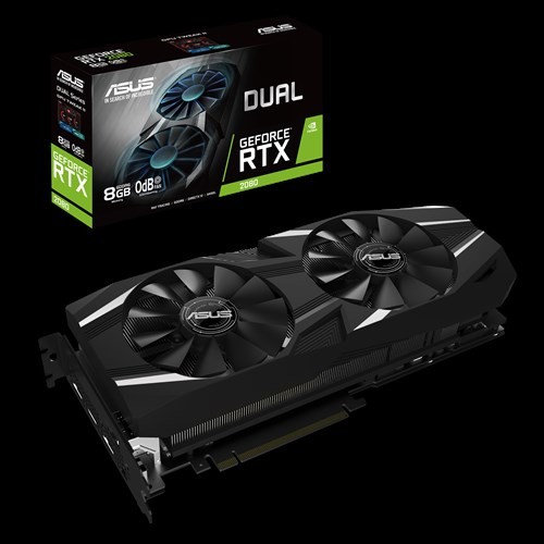 ASUS nVidia DUAL-RTX2080-8G GeForce RTX2080 8GB GDDR6 Graphics Card