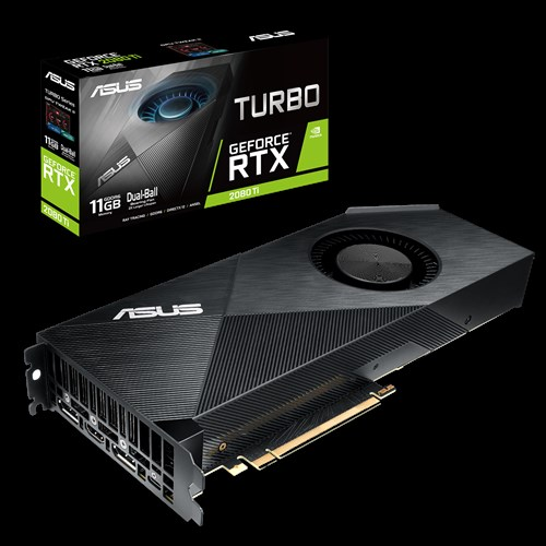 ASUS nVidia TURBO-RTX2080TI-11G GeForce RTX2080TI 11GB GDDR6 Graphics Card