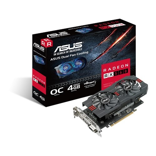 Asus AMD Radeon RX560-O4G-EVO DDR5 PCIe Video Card 5120x2880 1xDVI 1xHDMI 1xDP