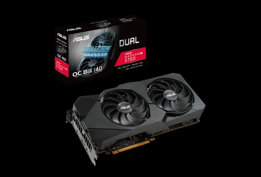 ASUS AMD Radeon™ Dual RX 5700 EVO OC edition 8GB GDDR6, 2 Fans, 3xDP/1XHDMI, 1750 Boost, RGB