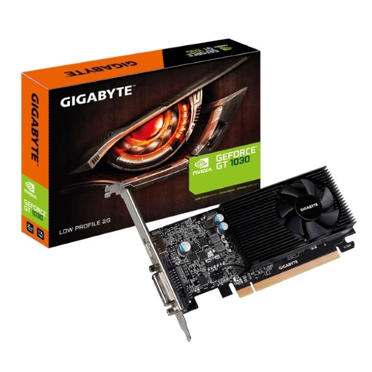 Gigabyte nVidia GeForce GT 1030 2GB DDR5 Fan PCIe Graphic Card 4K@60Hz HDMI DVI 2xDisplays Low Profile 1506/1468 MHz VCG-N1030SL-2GL GV-N1030SL-2GL
