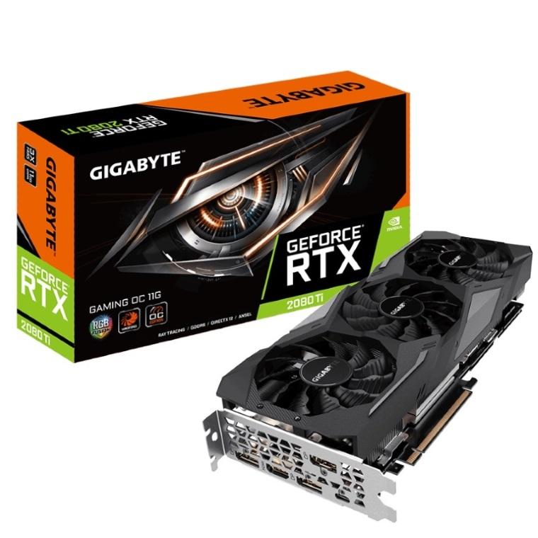 Gigabyte nVidia GeForce RTX 2080 Ti Gaming OC 11GB GDDR6 8K 7680x4320@60Hz 3xDP1.4 HDMI2.0 USB-C Windforce 3X Fan RGB Fusion NVLink 1665/1650MHz (LS)
