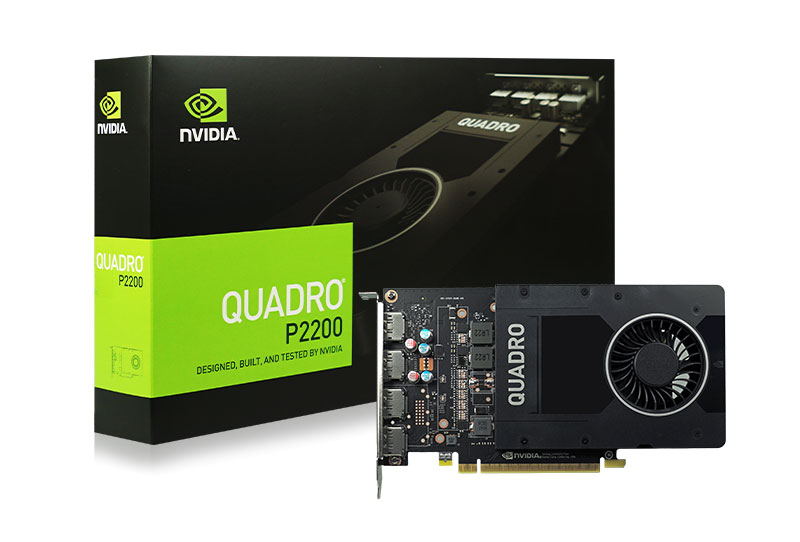 Leadtek nVidia Quadro P2200 PCIe Workstation Card 5GB DDR5 4xDP 1.4 4x4096x2160@120Hz 160-Bit 200GB/s 1280 Cuda Core Single Slot Software disc not inc