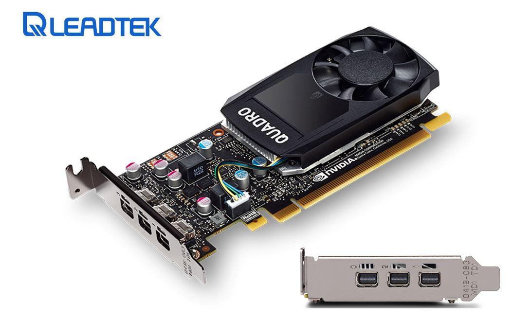 Leadtek nVidia Quadro P400 PCIe Professional Graphic Card 2GB DDR5 3xmDP1.4 3x4096x2160@60Hz 64-Bit 32GB/s 256 Cuda Core Single Slot Low Profile