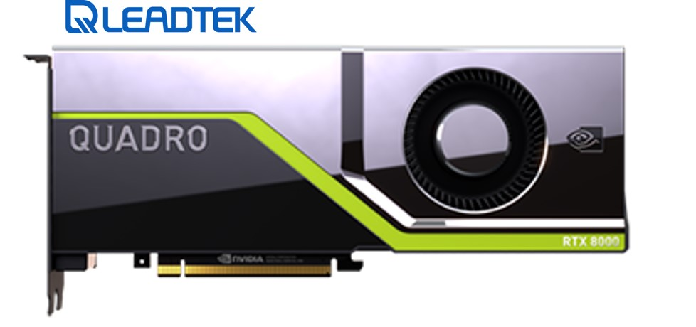 Leadtek nVidia Quadro RTX8000 PCIe Workstation Card 48 GB GDDR6