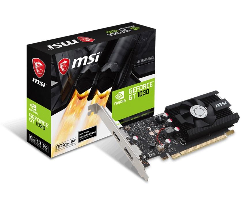 MSI nVidia Geforce GT 1030 2GB LP OC Low Profile VGA Card GDDR5 1518 MHz/1265 MHz 1xDP 1xHDMI PCIE3.0x16