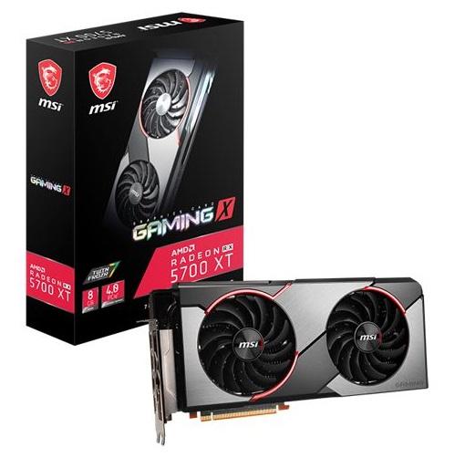 MSI AMD Radeon RX 5700 XT Gaming X  8G GDDR6 PCIe 4.0 Graphics Card 7680x4320 4xDisplays 3xDP HDMI 1925/1630 MHz TORX FAN3.0 auto-tuning