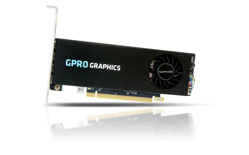 SAPPHIRE AMD GPRO 4300 4GB GDDR5 PCI-E QUAD MINI DP (UEFI, W/O GB) LITE
