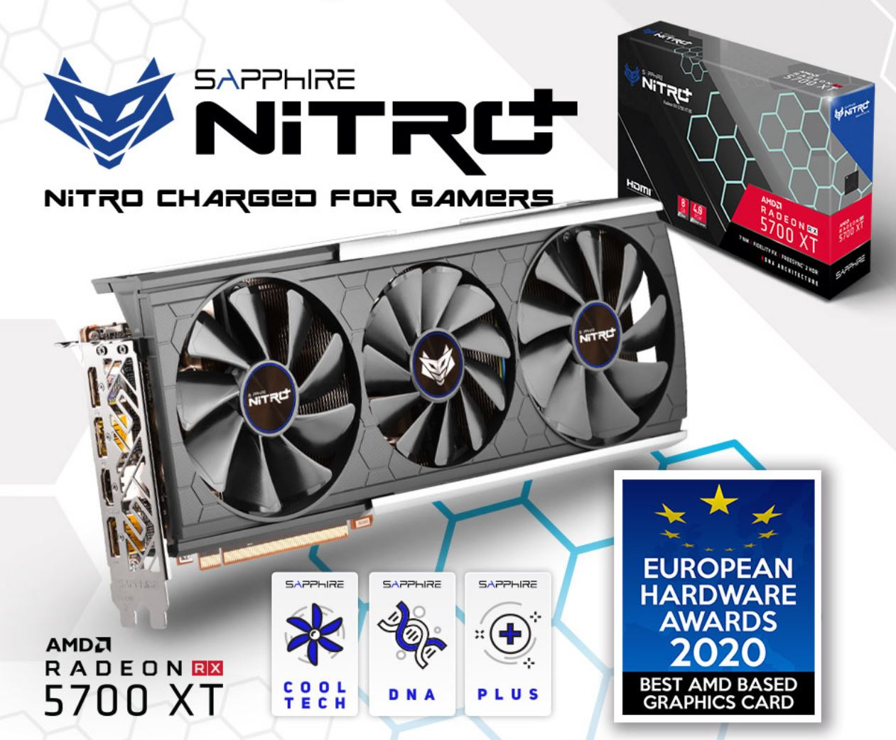 SAPPHIRE AMD RADEON NITRO+ RADEON RX 5700 XT BE 8GB GDDR6 Black Edition 1980MHz Boost 3xDP/1xHDMI PCIE 4.0