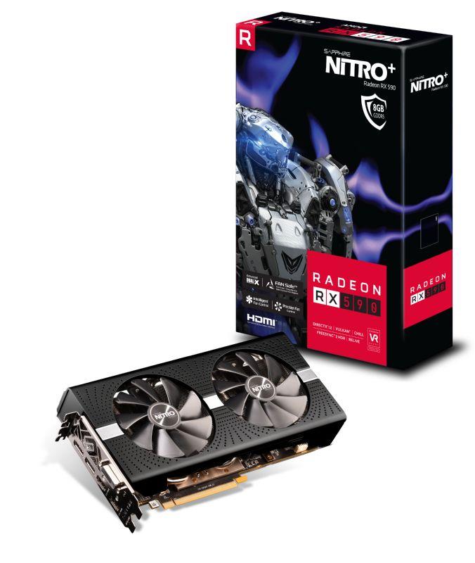 SAPPHIRE NITRO+ AMD RADEON RX 590 8G GDDR5 DUAL HDMI / DVI-D / DUAL DP W/BP OC (UEFI) 1560MHz/2100MHz