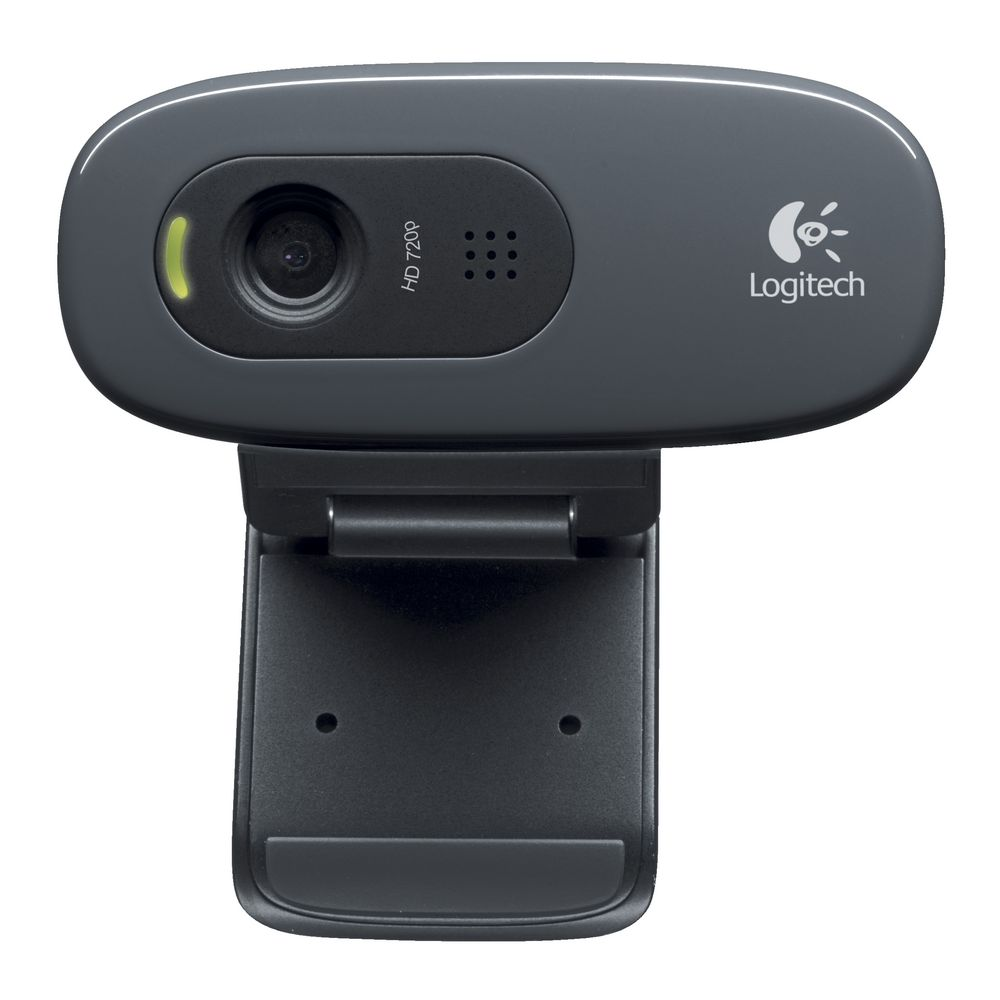 Logitech C270 3MP HD Webcam 720p/30fps, Widescreen Video Calling, Light Correc, Noise-Reduced Mic for Skype, Teams, Hangouts, PC/Laptop/Macbook/Tablet