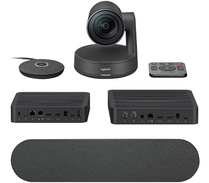 Logitech Rally Ultra-HD Color Camera Video Audio Conferencing Automatic Control Pan/Tilt/Zoom 90° View 15X HD Zoom 13 Megapixel 60fps Autofocus
